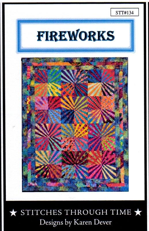 Fireworks Quilt Pattern by Karen Dever