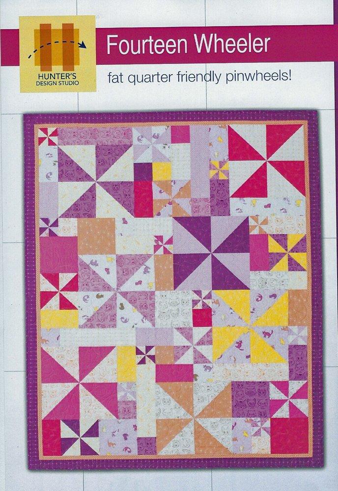 Fourteen Wheeler Quilt Pattern from Hunter Design Studios,