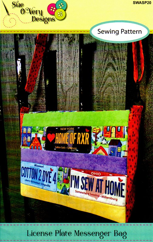 License Plate Messenger Bag Pattern from Sue O Very Designs