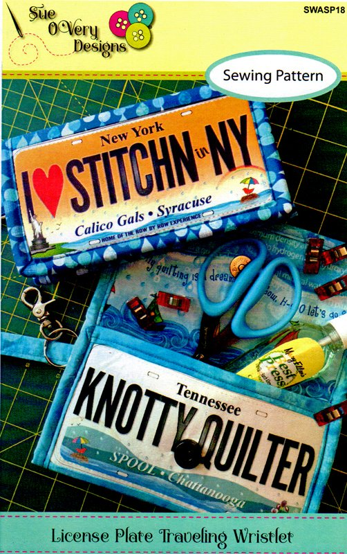 License Plate Wristlet Pattern from Sue O Very Designs