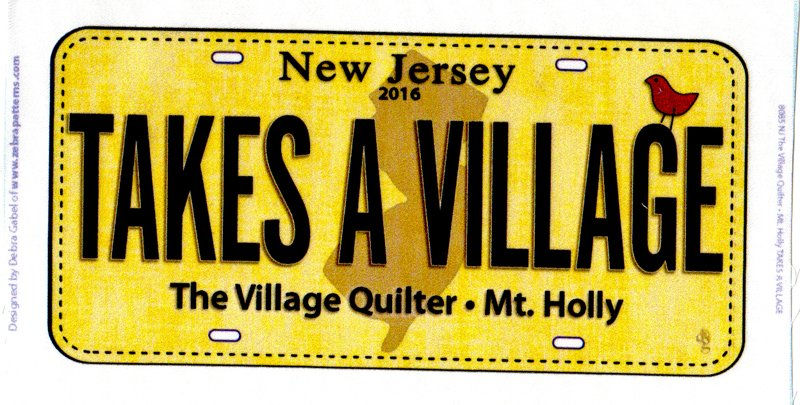 Row by Row Village Quilter License Plate - 2016
