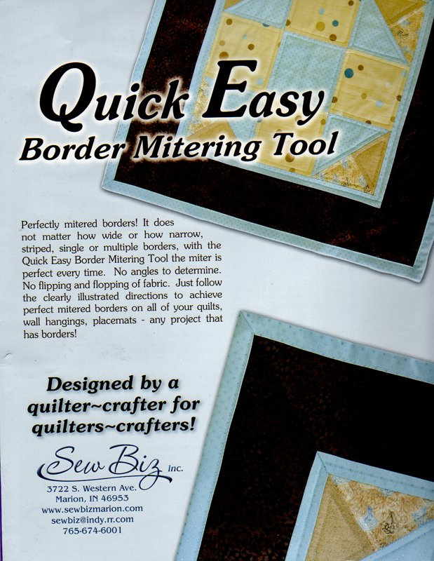 Quick Easy Border Mitering Tool from Sew Biz Inc.