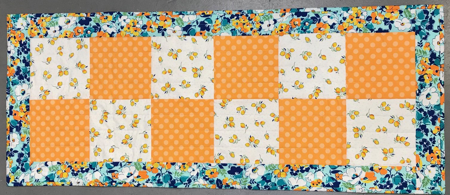 My First Quilt 4 Patch Table Runner 2 4 Pm