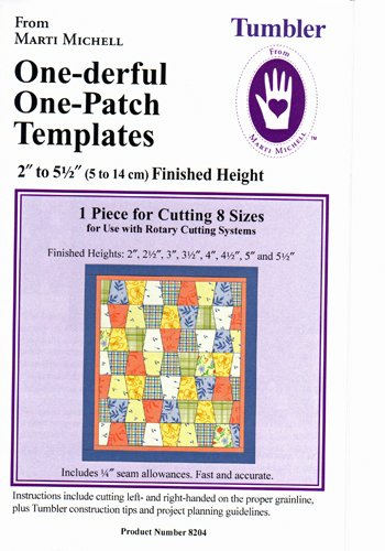 One-derful One-Patch Tumbler Template from Marti Michell
