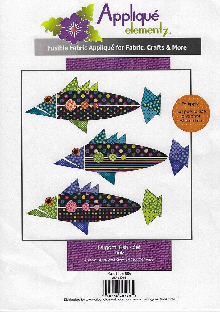 Applique Elementz Origami Fish Set