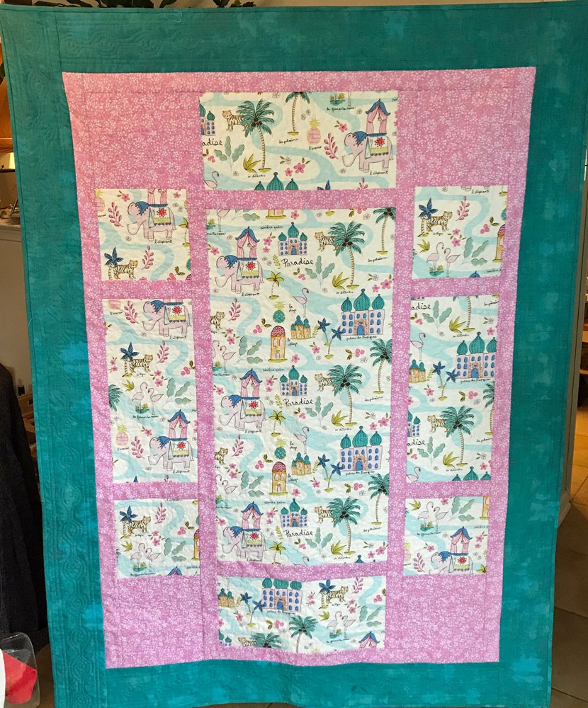 Pacific Grove Quilt Kit in Paradise Fabric
