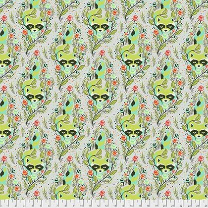 Free Spirit Tula Pink All Stars PWTP037 Racoon Agave
