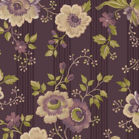 Marcus Fabrics Purple Passion from Paula Barnes R2241 Passion Flowers Dk Purple