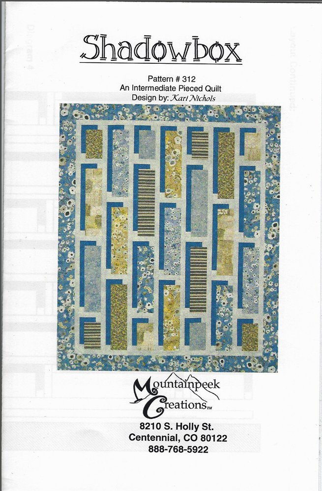 Shadowbox Quilt Pattern from Mountainpeek Creations