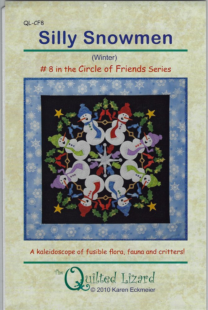 Silly Snowmen Quilt Pattern from The Quilted Lizard
