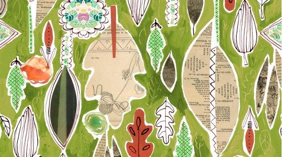 Dear Stella Spice Things Up Leaf Collage DAW 1196 Multi