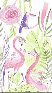 Dear Stella Cotton Shirting Flamingo Panel SRR987