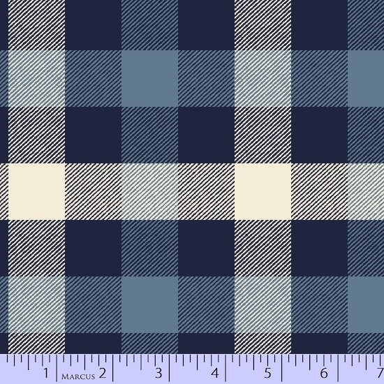 Marcus Primo Plaid Flannel New Blue R09U039 0121