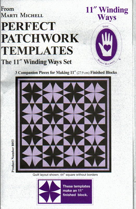 Winding Ways  11  Perfect Patchwork Templates from Marti Michell