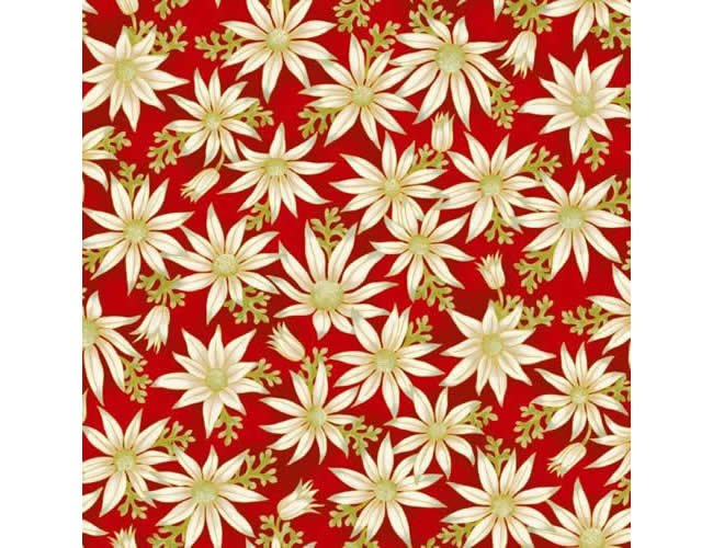 MAY- Under the Australian Sun Red w/White Flowers