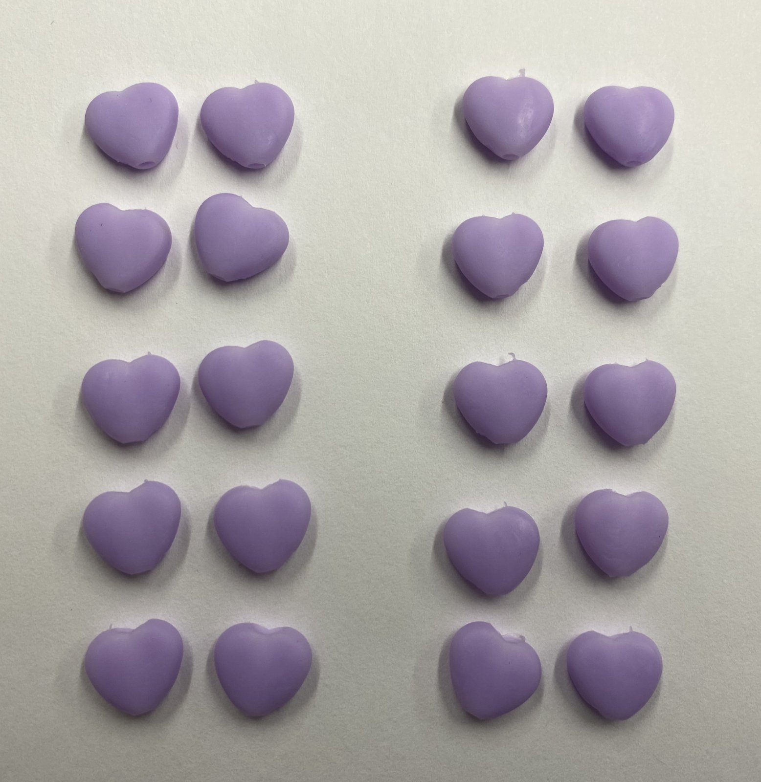 N- Cord Stops Lavender Hearts (Pkg of 20)