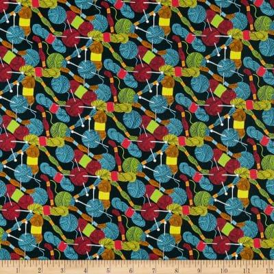 BLANK- Crafty Critters Yarn & Floss Multi on Black