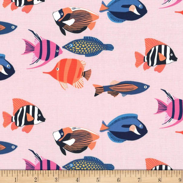 MM- Fishtopia Pink w/Multicolor Fish