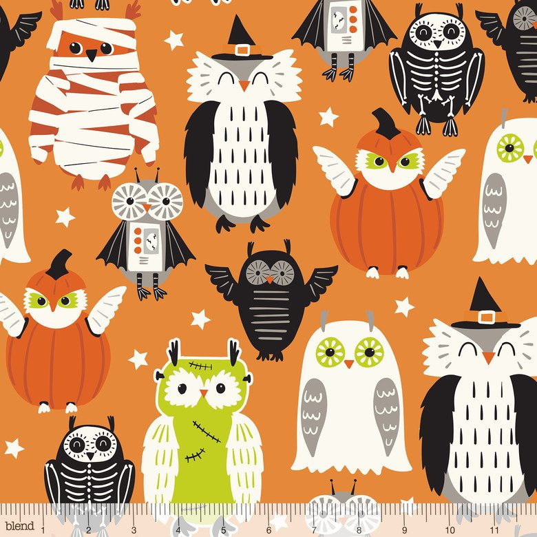 BLEND- Boo Crew Owls In Costume Orange