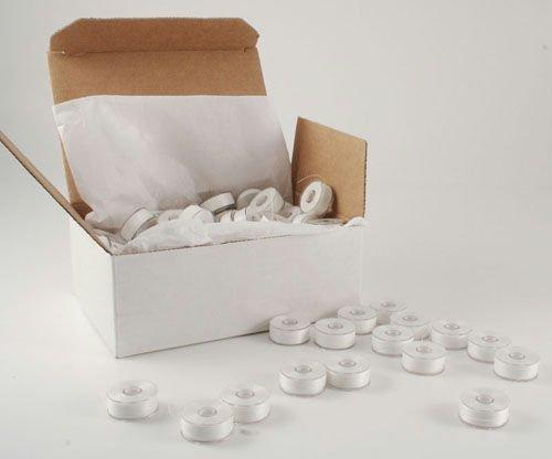 JAN- Pre-Wound Plastic Bobbin White Polyester Thread (1ct)