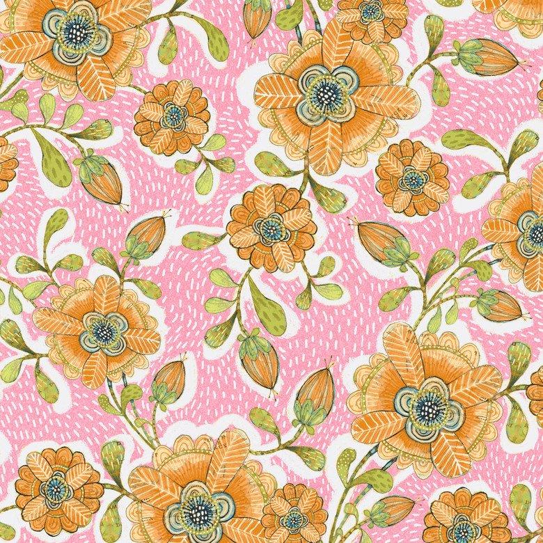 BLEND- Hello World pink with medium yellow flowers