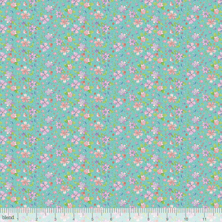BLEND- Waltz of Whimsy Ramble Turquoise Floral