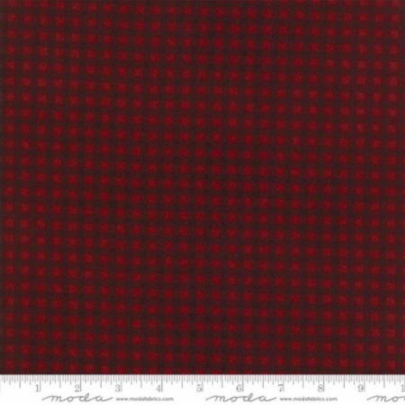 MODA- Wool Needle V Flannels Ruby