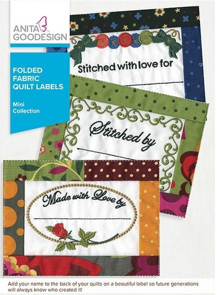 AG- Folded Fabric Quilt Labels