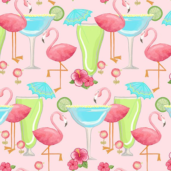 BLANK- Let's Flamingle Flamingos & Cocktails Pink