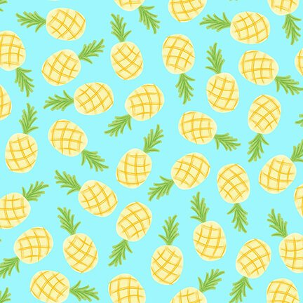BLANK- Let's Flamingle Pineapples Aqua