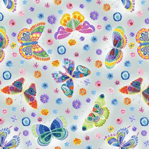 BLANK- Wonderland Butterfly Floral Light Gray