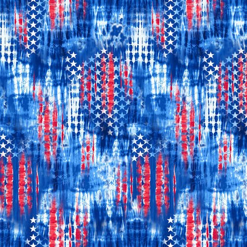 BLANK- One Land One Flag Patriotic Abstract Stars Blue