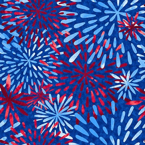 BLANK- One Land One Flag Patriotic Fireworks Blue