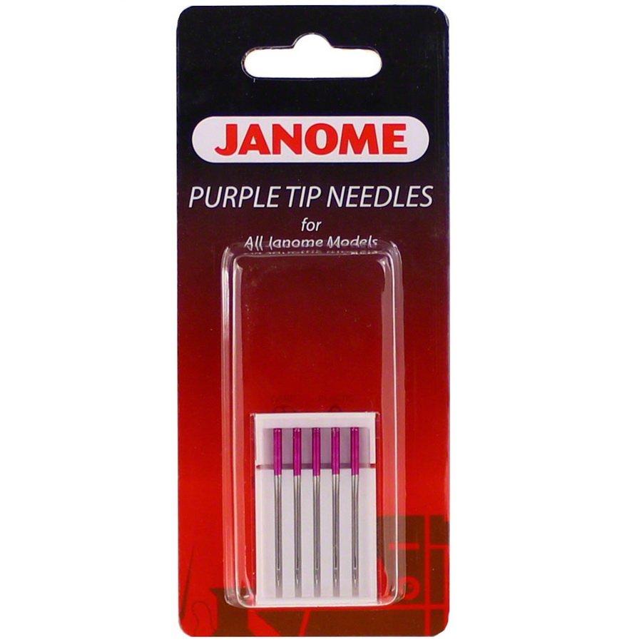 JAN- Purple Tip Needles Size 14 - Blister Pack