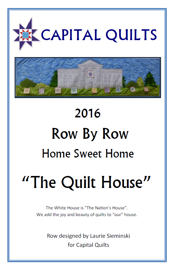 PT- The Quilt House Row by Row 2016 Pattern