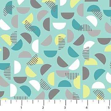 NORTH- Soho Turquoise w/Half Moons Green Grey White