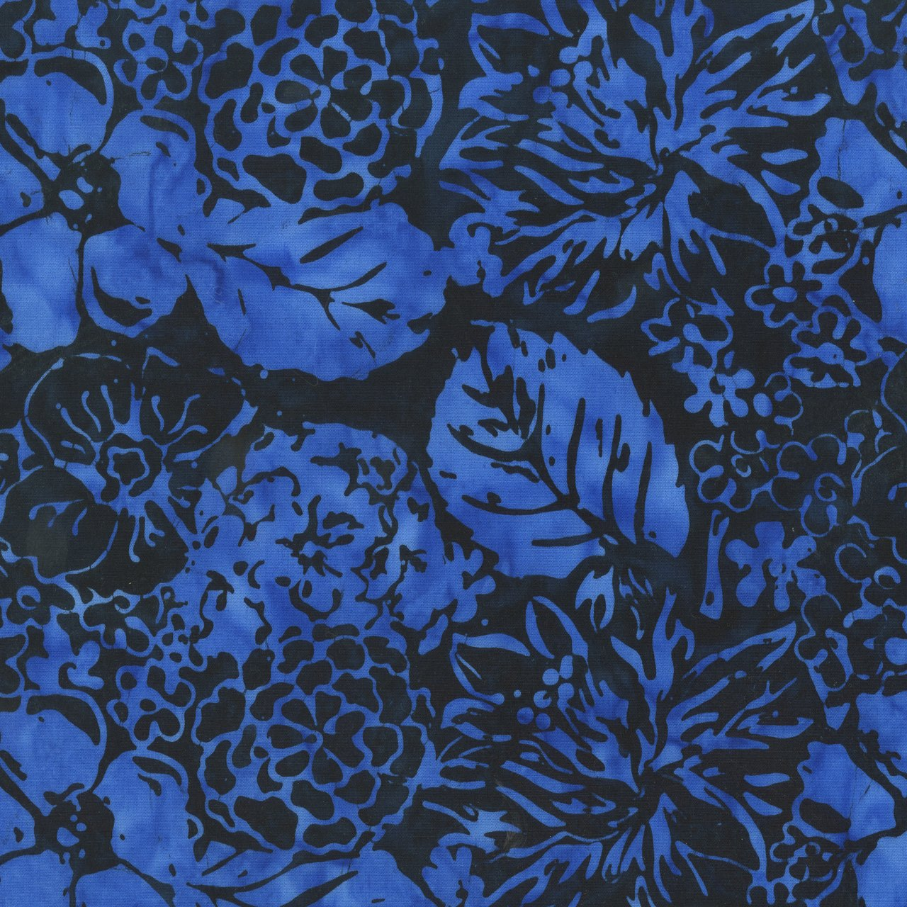 ANTH- Royal Blue Floral on Dark Navy