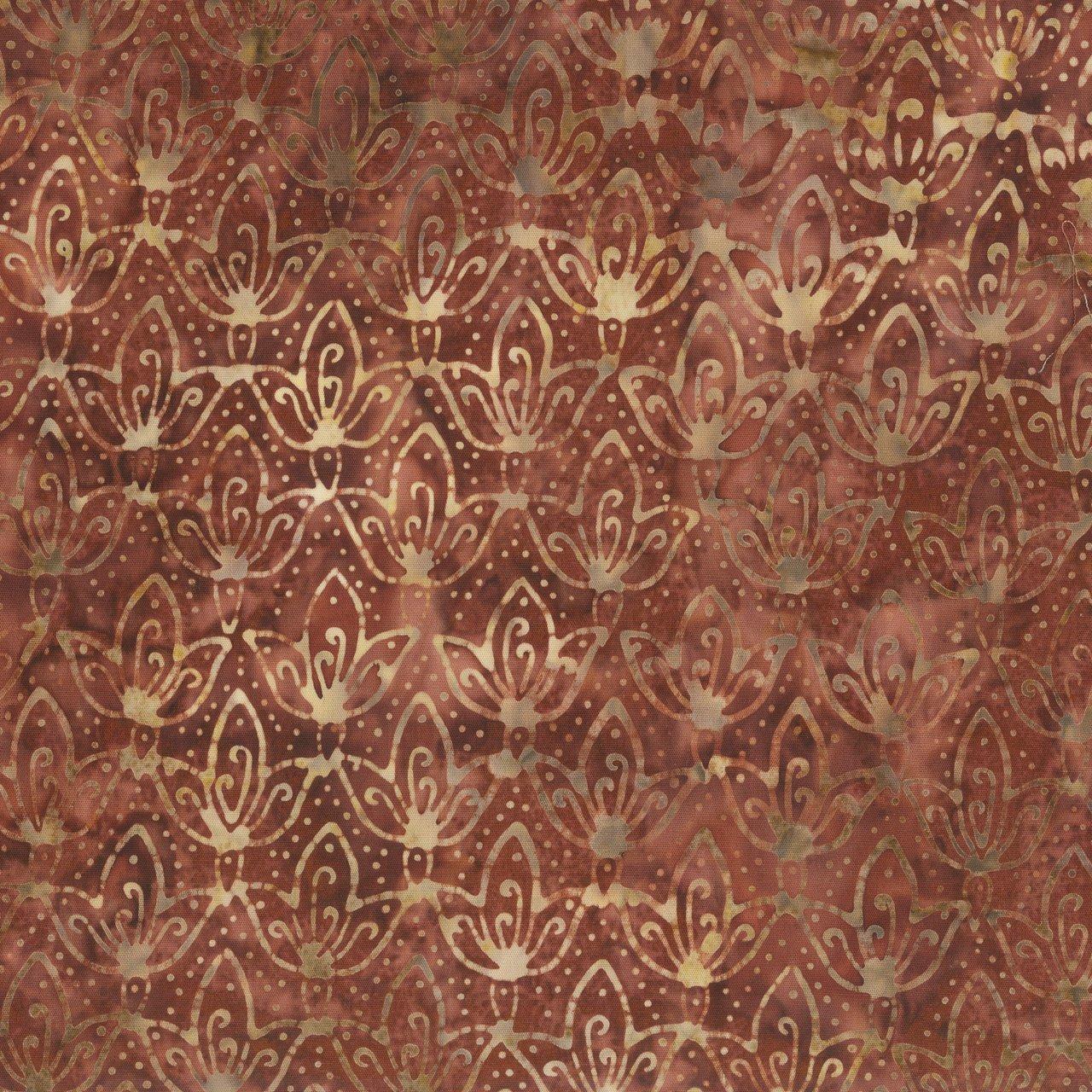ANTH- 3 Leaf Batik Motif Rusty Rose