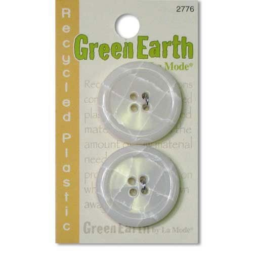 N- Buttons Green Earth Recycled Plastic Cream