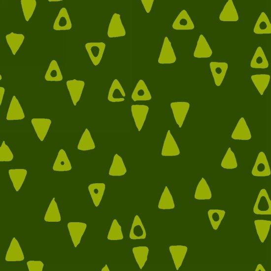STUDIO- Modern Batiks Green Triangles