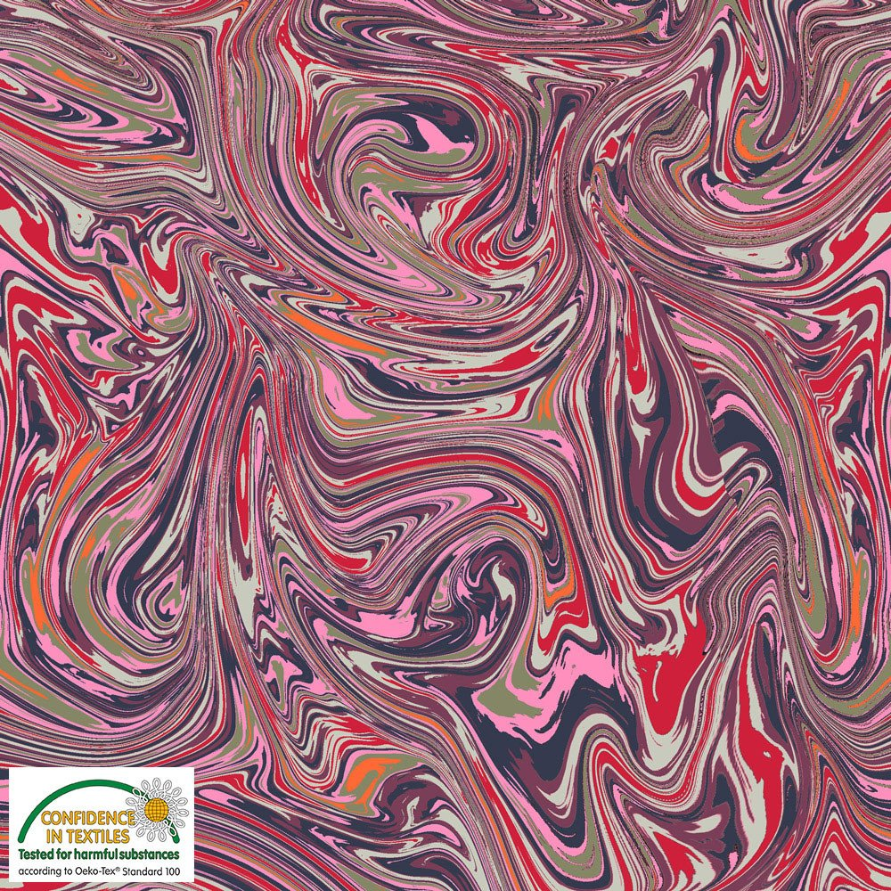 STOF- Marble Yard Marbled in Purple and Sage