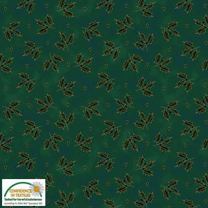 STOF- Magic Christmas Green With Gold Holly