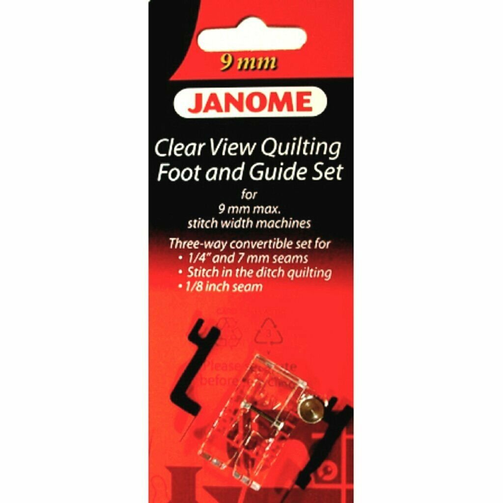 JAN- Clear View Quilting Foot Guide Set 9mm