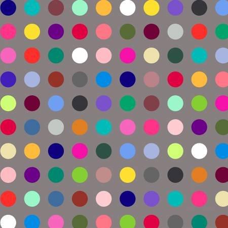 WIND- Many Colored Polka Dot Digital 108 Wide Back