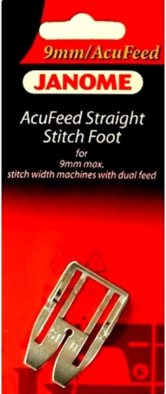 JAN- AcuFeed Straight Stitch Foot 9mm