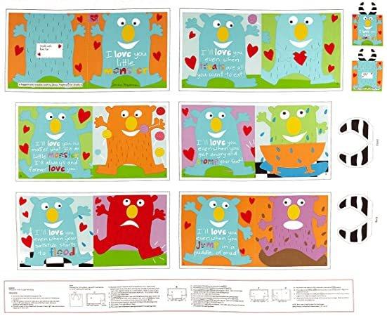 PANEL- Huggable & Loveable 6 I Love You Little Monster Book Panel