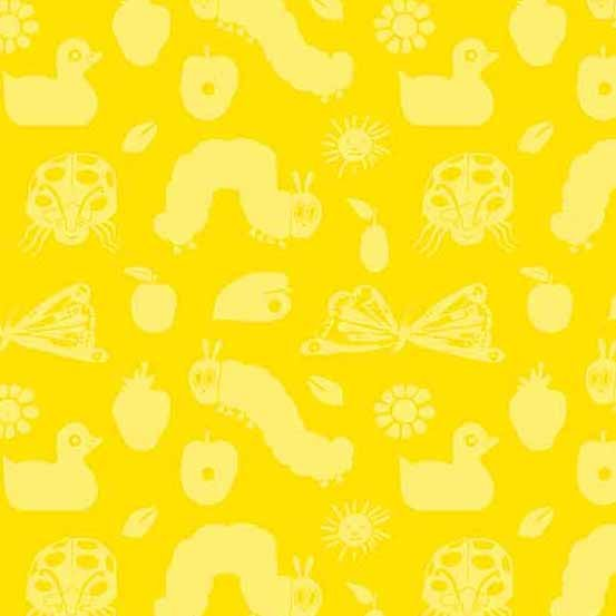 AND- Very Hungry Caterpillar Icons on Yellow