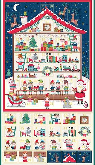 PANEL- Let it Snow Santa's Workshop Advent Calendar