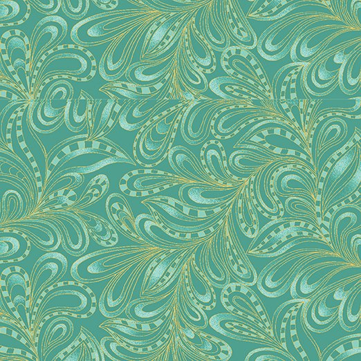 BEN- Cat-I-Tude II PurrFect Together Featherly Paisley Green