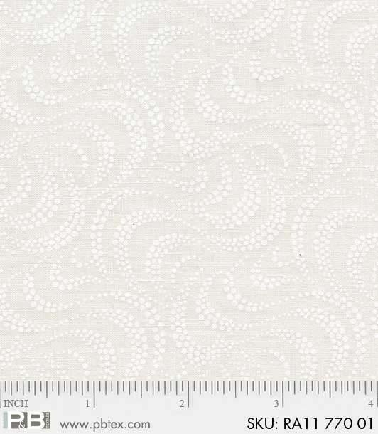 PandB- Ramblings 11 Beige Swirls 770 Off White